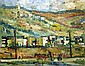 Peri Rosenfeld 1912-1991 (Israeli) Galilee landscape oil on canvas