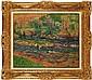 **Henri Moret 1856-1913 (French) Le vieux pont sur l'Aven, Finistère, 1899 oil on canvas