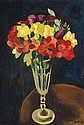 **Moןse Kisling 1891-1953 (Polish, French) Fleurs, 1918 oil on canvas