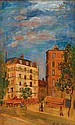 Abraham Mintchine 1898-1931 (Ukrainian) Parisian landscape oil on canvas