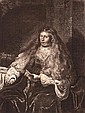 Rembrandt Harmenszoon van Rijn 1606-1669 (Dutch) The Great Jewish Bride, 1635 (B., Holl. 340; H. 127) etching with drypoint and engr...