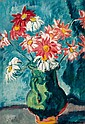 **Louis Valtat 1869-1952 (French) Cruche verte aux marguerites oil on canvas