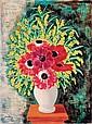 **Moise Kisling 1891-1953 (Polish, French) Anémones et mimosas, 1930 oil on canvas