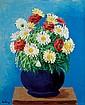 **Moise Kisling 1891-1953 (Polish, French) Marguerites, 1930 oil on canvas