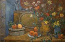 Leo Kahn 1894-1983 (Israeli) Still life oil on canvas