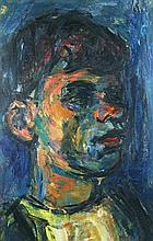 Pinchas Litvinovsky 1894-1984 (Israeli) Portrait of a young man oil on masonite