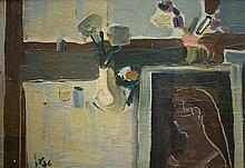 Shmuel Tepler 1918-1998 (Israeli) Still life oil on masonite