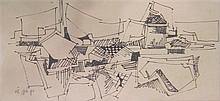 Yaacov Elchanani b. 1947 (Israeli) Architectural drawing, 1968 pencil on paper