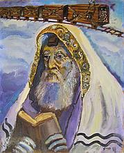 Hershel Ben Haim Rabbi oil on canvas