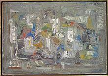 Moshe Saadon Abstract composition oil on canvas