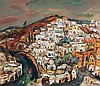 Yitzhak Frenkel Frenel 1899-1981 (Israeli) Safed oil on canvas