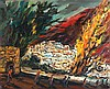 Yitzhak Frenkel Frenel 1899-1981 (Israeli) Landscape oil on canvas