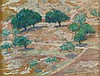 Hermann Struck 1876-1944 (Israeli) Grove of trees, 1932 oil on masonite