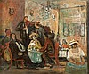 Avraham Naton 1906-1959 (Israeli) Cafe scene, 1942 oil on canvas