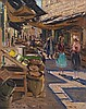 **Ludwig Blum 1891-1975 (Israeli) Market scene, 1964 oil on canvas