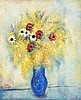 Reuven Rubin 1893-1974 (Israeli) Spring bouquet, 1965 oil on canvas