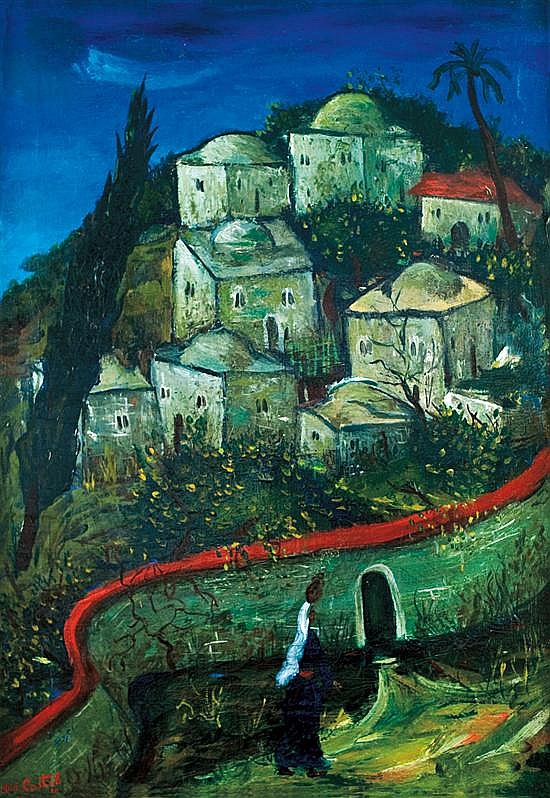 Moshe Castel 1909-1991 (Israeli) Jerusalem, 1930 oil on canvas