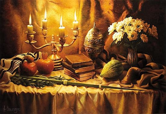 Albert Benaroya b. 1963 (Israeli) Month of Tishrei oil on canvas