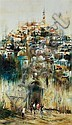 Ben Avram b.1937 (Israeli) Jerusalem oil on canvas