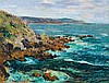 **Gustave Loiseau 1865-1935 (French) Rochers dominant la mer en Bretagne, ca. 1906 oil on canvas
