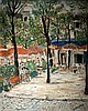 Jean Daxe 20th century Parisian street oil on cardboard