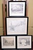 FOUR FRAMED ARTHUR SELANDER SEASONS GREETINGS CARD