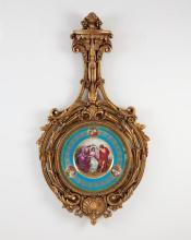 Neoclassical Style Porcelain Plate in Frame
