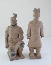 Pair Chinese Warrior Figures