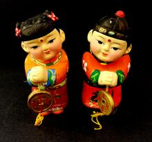 A Pair Of Chinese Fortune Children Fuwa