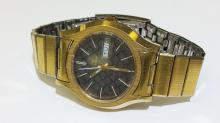 Handsom Bulova's Acoutron Dual Day Gold Plated Men's Watch