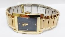 ESQ Gold tone large size men's diamond watch
