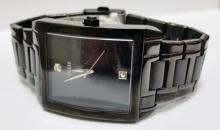 GUESS SUPERLARGE BLACK METAL WATCH MODEL #U12557G1