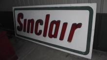 PLYWOOD SINCLAIR GAS STATION SIGN PLASTIC LETTERS
