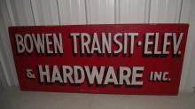 BOWEN TRANSIT ELEVATOR & HARDWARE CO SIGN