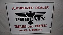PORCELAIN PHOENIX TRAILERS & CAMPERS SIGN
