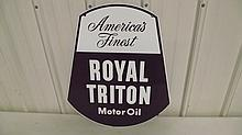AMERICAS FINEST ROYAL TRITON MOTOR OIL SIGN