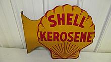 SHELL KEROSENE FLANGE SIGN