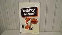 A&W ROOT BEER BABY BURGER TIN SIGN