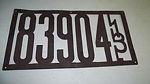 DIE CUT 1913 ILLINOIS LICENSE PLATE
