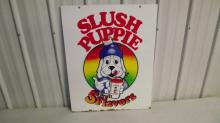 SLUSH PUPPIE 5 FRUIT FLAVORS SIGN