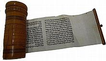 The Book of Esther handwritten on parchment. Given in a wooden houseJerusalem 30s