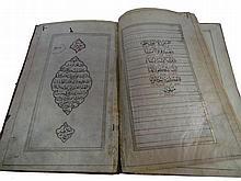 Book manuscript Ancient Persian , with illustrations