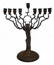 Silver Chanukca menorah- Shaped as a tree