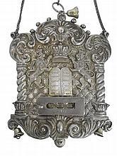 Silver tray. Torah. England 1903 signed