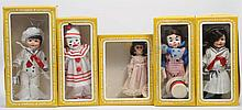 Lot of 5: Vinyl Boxed Effanbee Dolls.