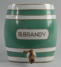 1920s Brandy Ceramic Dispenser.