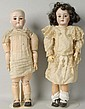 Lot of 2: German Bisque Child Dolls.