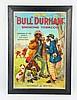 Rare Original Bull Durham Cardboard Poster.