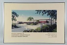 Lot of 2 Chicago Midway Airport Renderings.