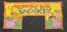 Huge Monster Snake Sideshow Entrance Banner.